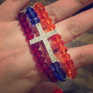 Armenian beaded Cross bracelet